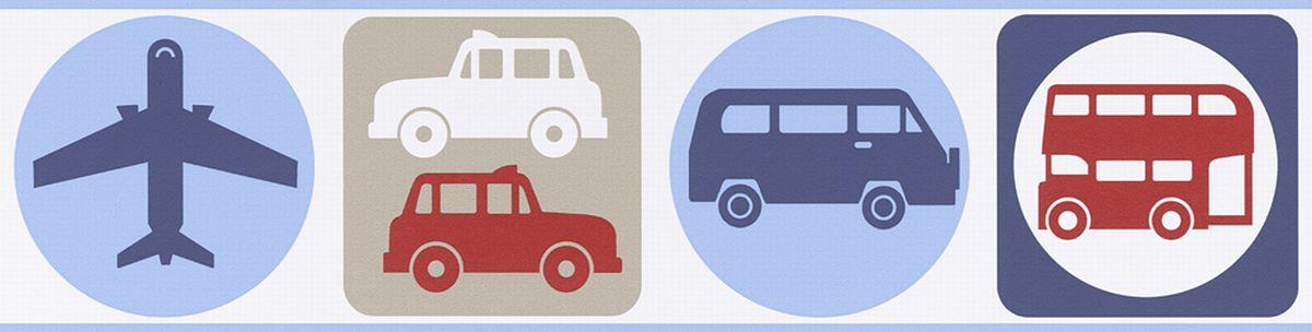 Kinderbordüre selbstklebend Autos 8957-14 | Bordüren | decowunder ...