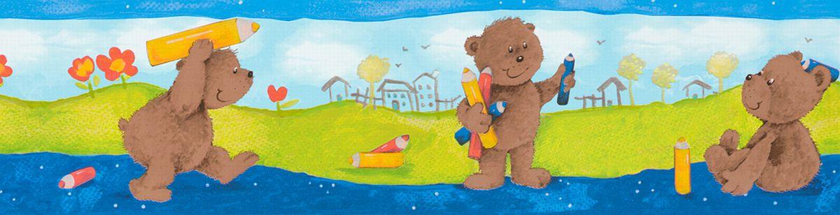 Kinderbordure Selbstklebend Teddybaren 8960 18 Borduren