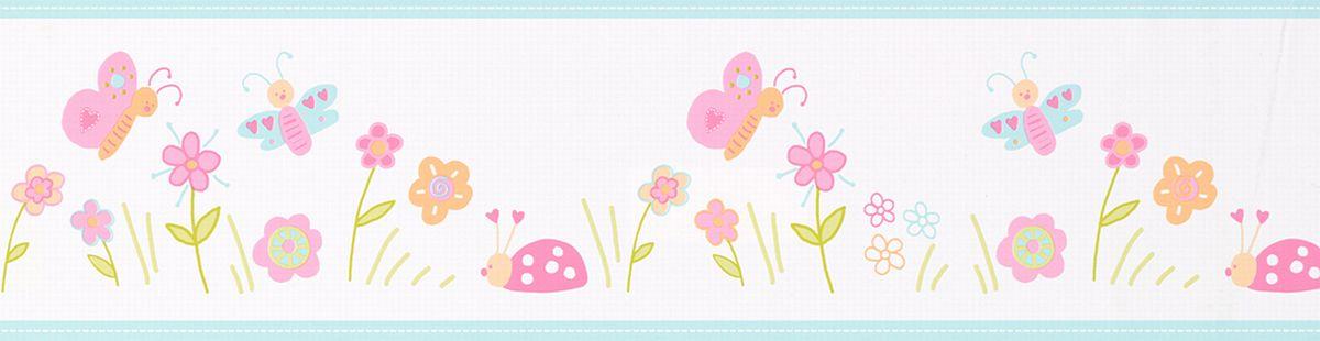 Kinderbordure Selbstklebend Marienkafer Schmetterlinge 9015 14