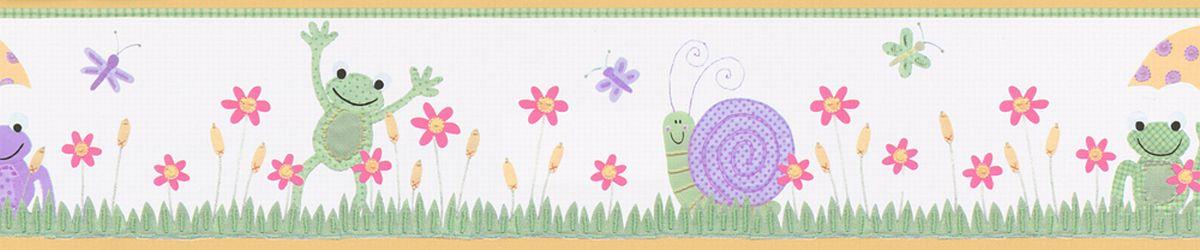 Hochwertige Tapeten und Stoffe | Kinderbordüre selbstklebend Wiese ...