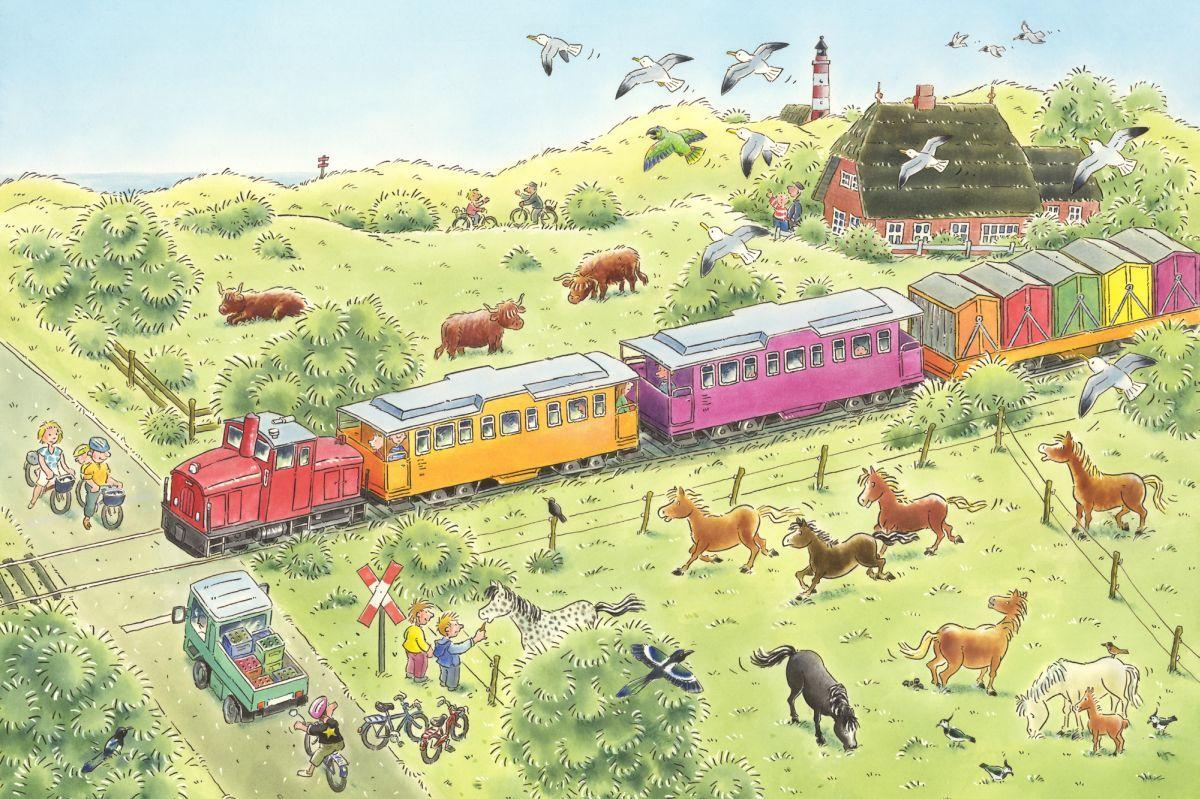 Fototapete Für Kinderzimmer | Hochwertige Tapeten Und Stoffe Fototapete Kinder Mit Eisenbahn