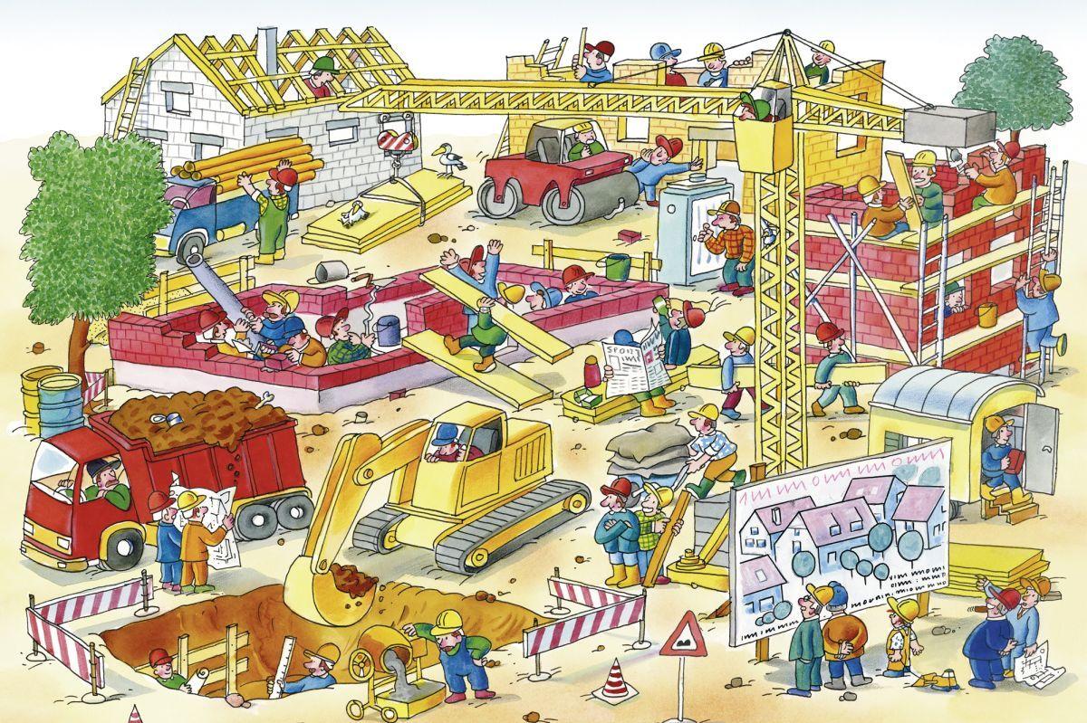 Fototapete Kinder mit Baustelle 0351-8 | XXL Wallpapers | decowunder ...