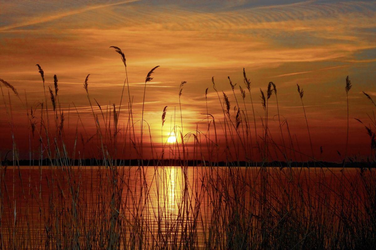 Fototapete Sonnenuntergang am See 0365-7