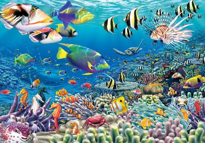 Fototapete unterwasserwelt  Hochwertige Tapeten und Stoffe | Fototapete Unterwasser-Garten ...