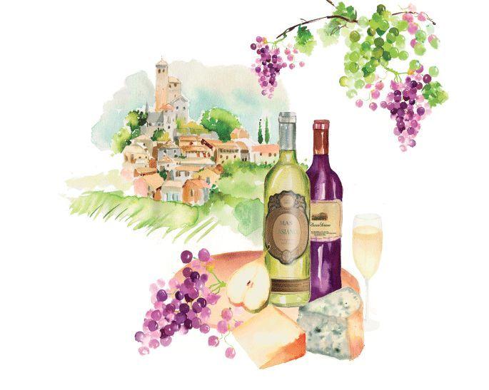 Mural Tuscany Wine Ev1377 Evolution 4 Decowunder Tapeten De