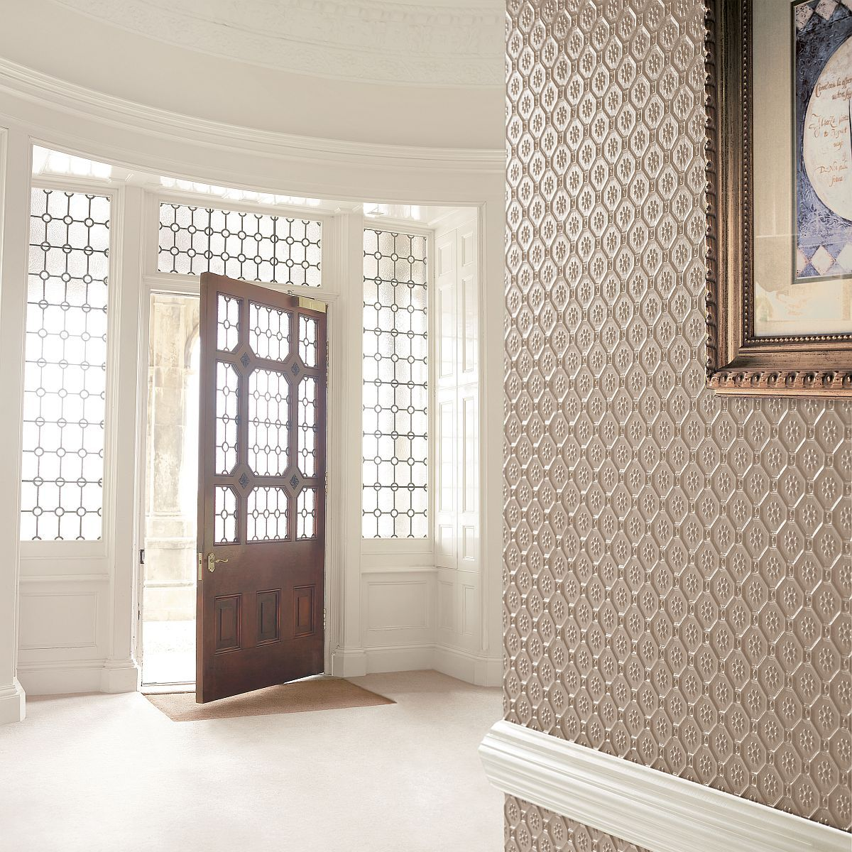 high-quality wallpapers and fabrics | lincrusta byzantine rd1954