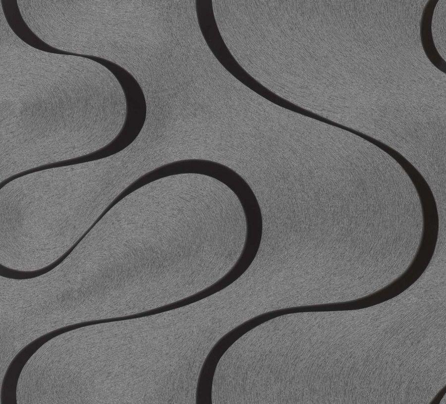 Nappes Papier Peint Luigi Colani Visions Designer papier peint 53327 Structure gris argent 4,06