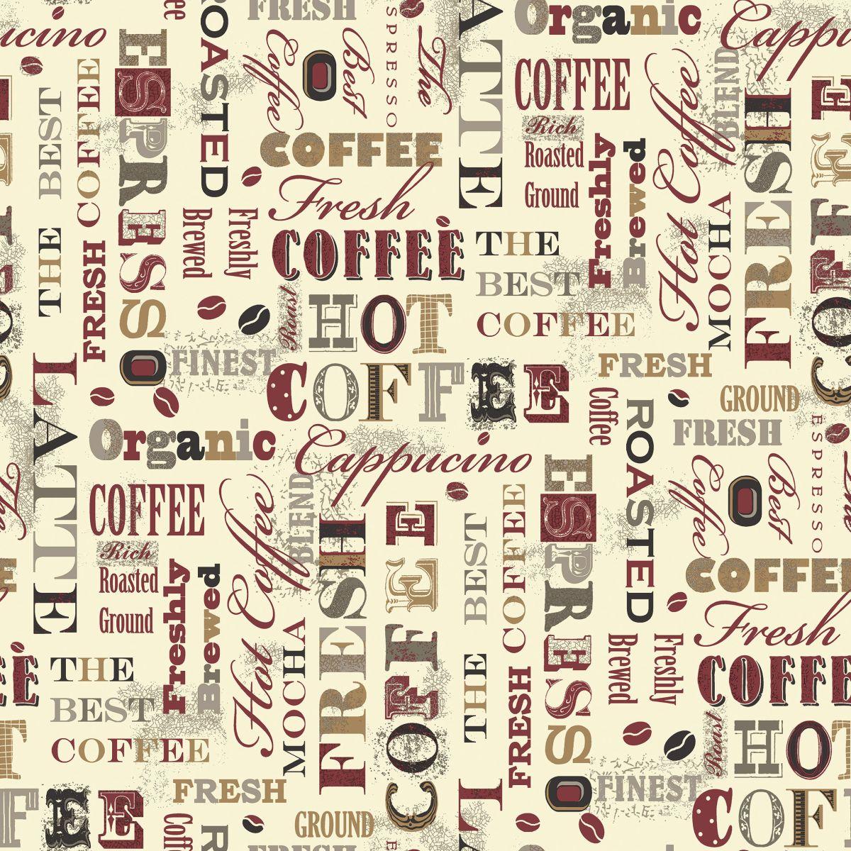 Non Woven Vinyl Wallpaper With Coffee Motifs G12053 Kitchen Recipes Decowunder Tapeten De