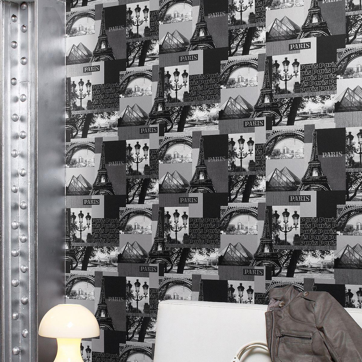 Hochwertige Tapeten Und Stoffe Papier Tapete Mit Pariser Motiven