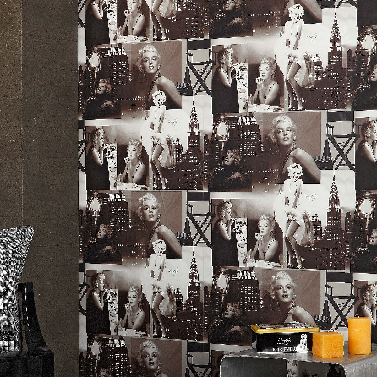 Paper Backing Wallpaper Marilyn Monroe 12101209 Les Aventures