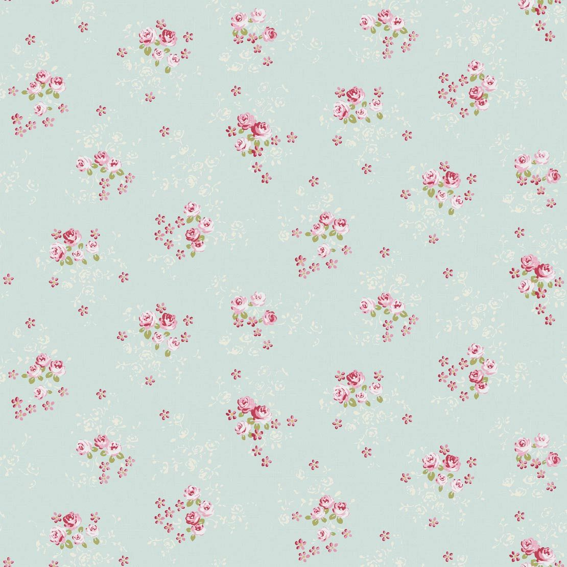Country House Wallpaper With Roses LLR21196131
