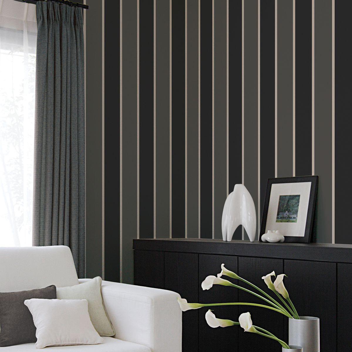 Vinyl Wallpaper On Non Woven Smart Stripes Wide Stripes