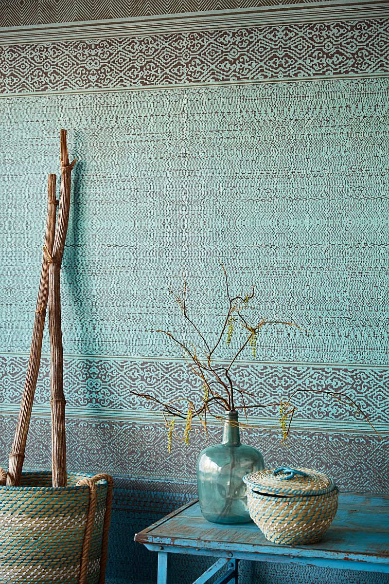 Wandbild Wandteppich Türkis Eijffinger 376090 | Siroc | decowunder ...
