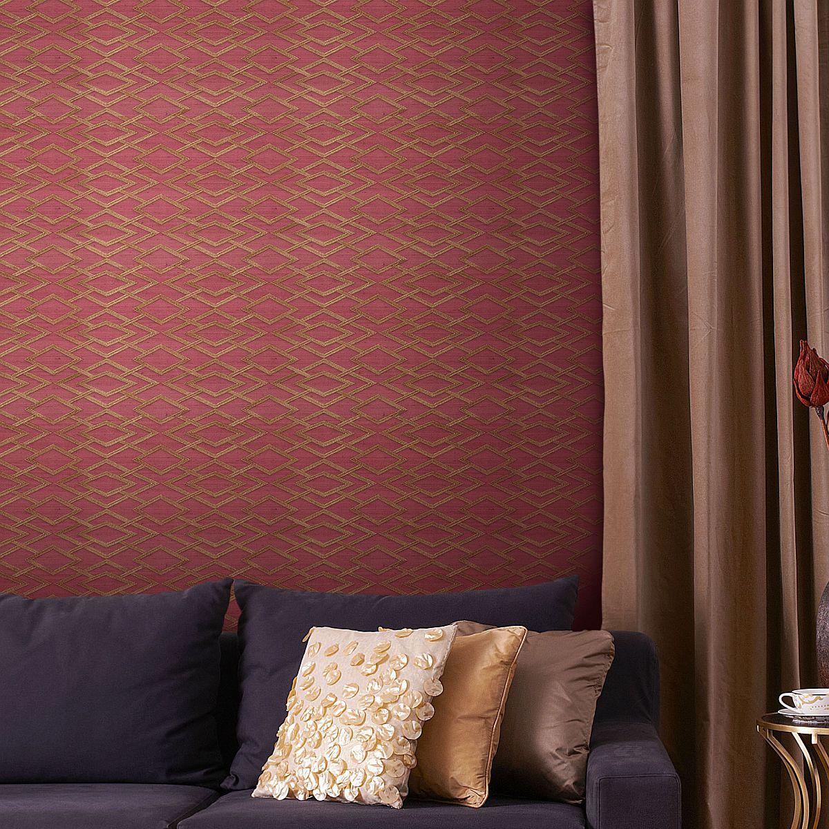 Non Woven Vinyl Wallpaper Sirpi Muralto Secrete Geometric Silk
