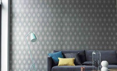 Tapeten Und Stoffen Die In Muster Und Farbe Hervorragend Kombiniert Werden  Können.