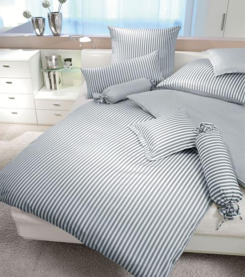 mako silk satin bed linen modernclassic 3912-08-2 135/200 cm + 80/80 cm