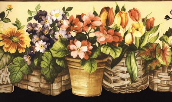 Bordüre mit Blumenmuster 03104
