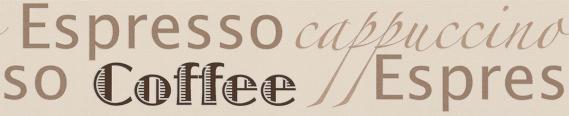 border self-adhesive foam coffee motifs 2662-31