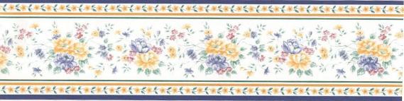 Selbstklebende Bordüre mit Blumen 3526-01