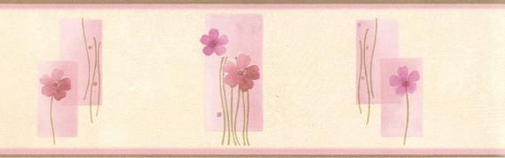 Bordüre selbstklebend mit Blumenmuster 3536-03