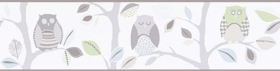 childs border self-adhesive owls 8955-30