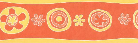 Selbstklebende Bordüre grafisches Muster 3513-02