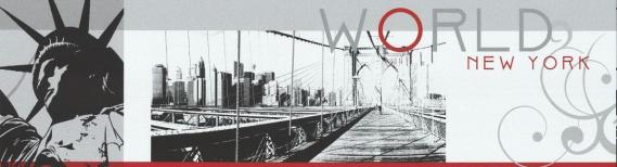 Selbstklebende Bordüre New York 27091609