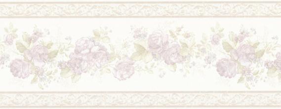 Landhaus Bordüre Vintage Rose B07568