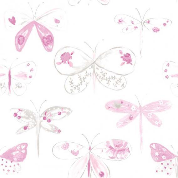 furnishing fabric O la la with dragonflies 66334044