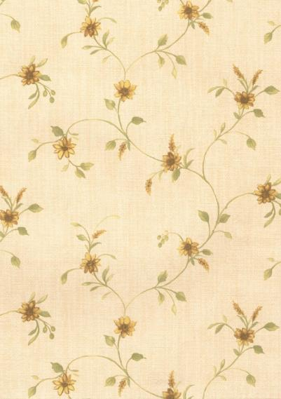 country house wallpaper with flowers 1515