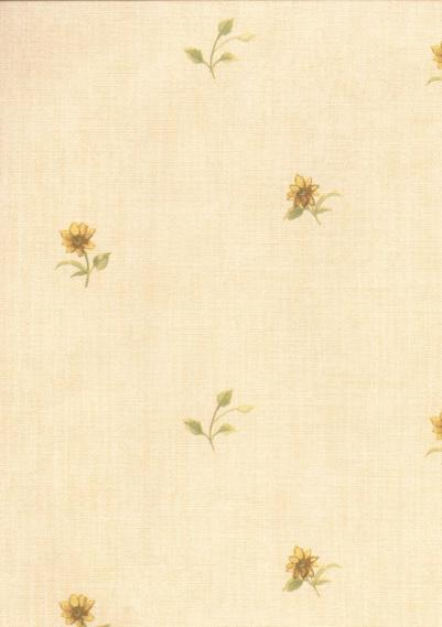 country house wallpaper with flowers 1518