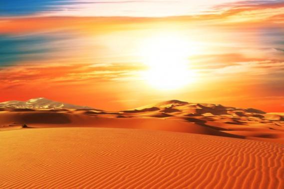 Fototapete mit Wüstenpanorama 0312-2