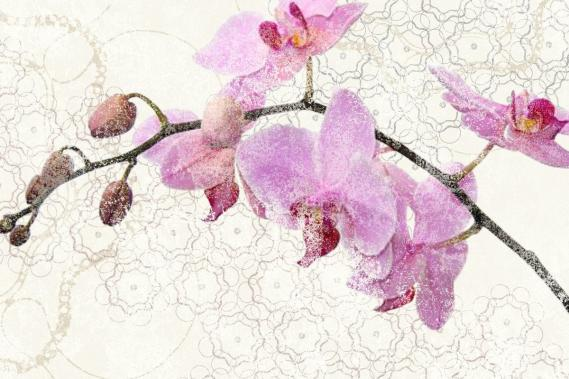 Mural with orchids 0341-3