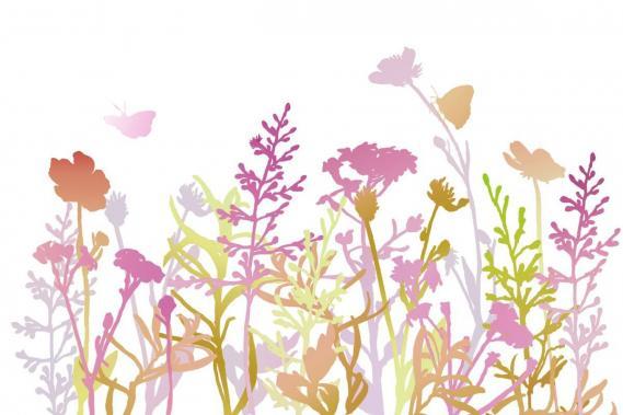 Fototapete mit Blumen 0341-5