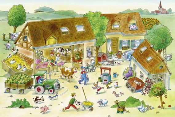 Fototapete Kinder mit Farm 0351-6