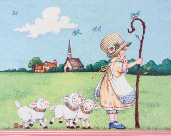 Mural Little Girl EV1396