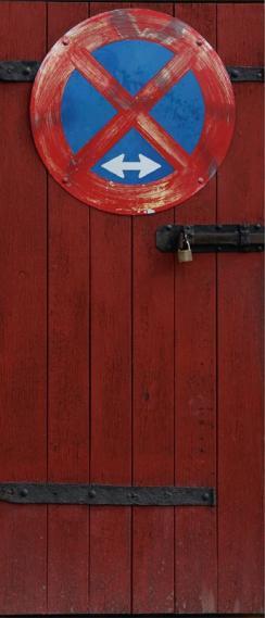 Fototapete Tür selbstklebend No Parking 0200-08