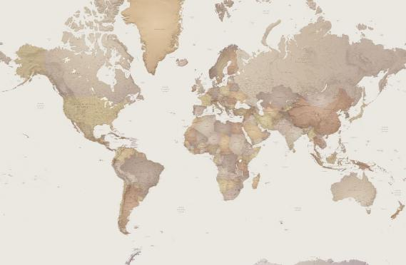 Fototapete Mr. Perswall P111501-0 World Map 405*265
