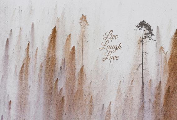 Fototapete Windmill Avenue Live Laugh Love 6332032