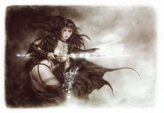 Fototapete Luis Royo The Five Faces of Hecate 3,72m x 2,57m