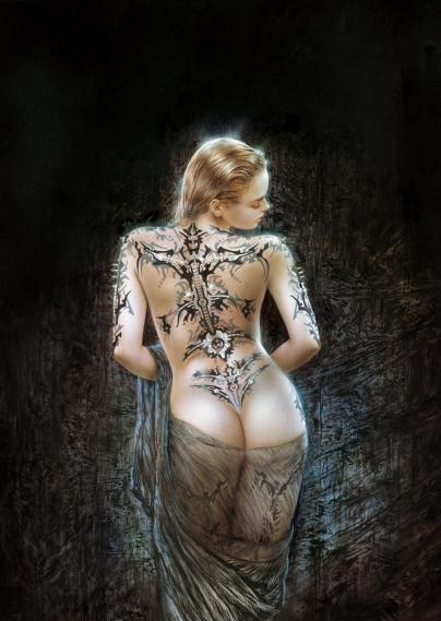 Fototapete Luis Royo The flower of Pain