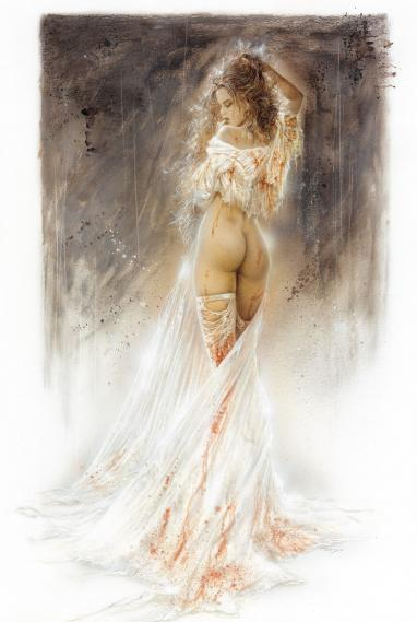 Fototapete Luis Royo Tick-tock... a little bit longer 0,93m x 1,39m