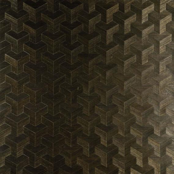 Vlies Sisal Tapete Heliodor Cube Dunkelolive 49005