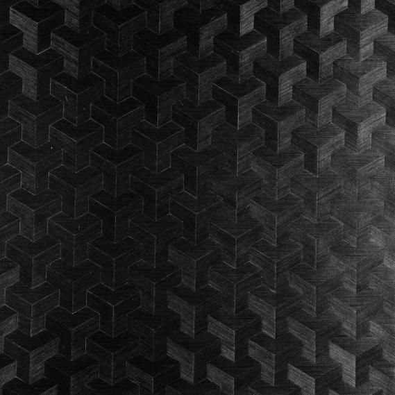 Vlies Sisal Tapete Heliodor Cube Anthrazit 49007