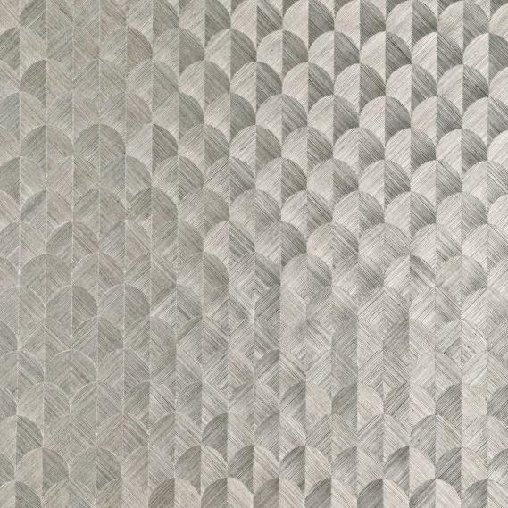 Vlies Sisal Tapete Heliodor Scale Silber-Grau 49102