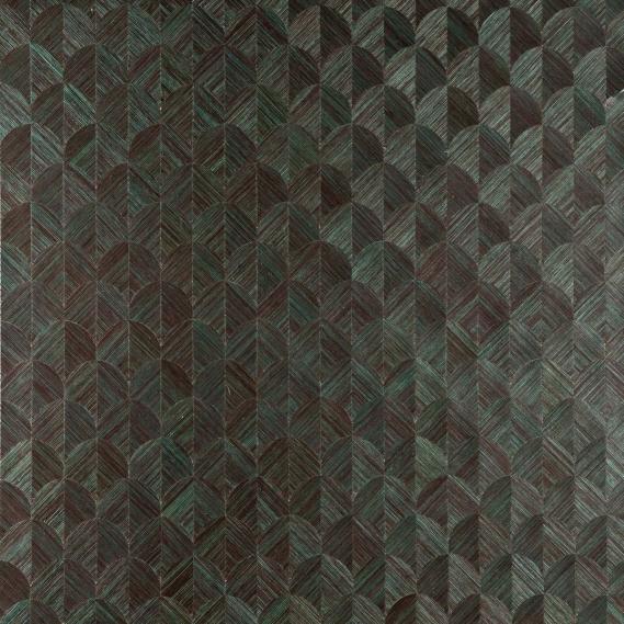 Vlies Sisal Tapete Heliodor Scale Anthrazit-Grün 49107
