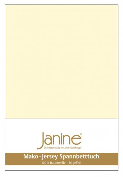 stretch bed sheet jersey light yellow 5007-17