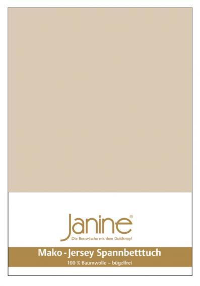 Spannbetttuch Jersey sand 5007-29