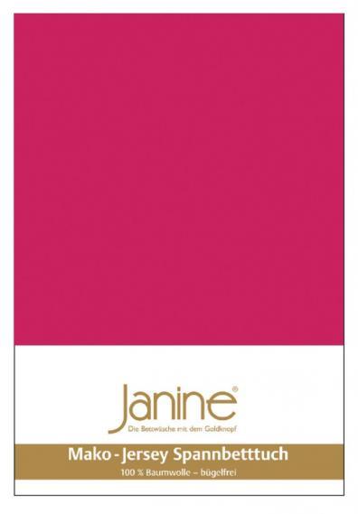 Spannbetttuch Jersey himbeer 5007-35
