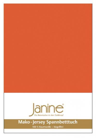 Spannbetttuch Jersey mandarine 5007-44
